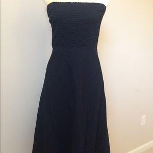 JCrew Blue Strapless Dress